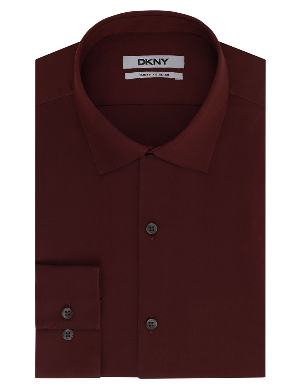 Dkny slim fit natural stretch dress shirt in purple for for How to stretch a dress shirt