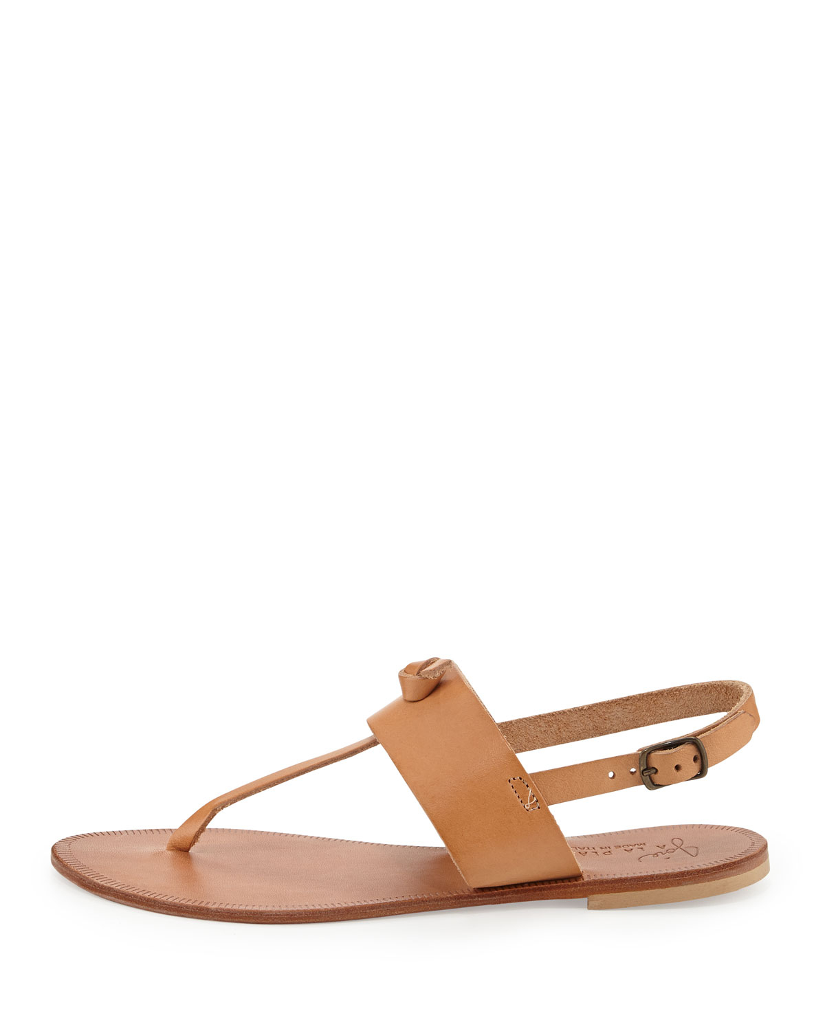 ff6beafaf78aa7 Lyst - Joie Bastia Knot Thong Sandal in Brown