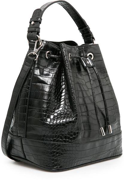 Mango Bucket Bag In Black 02 Lyst