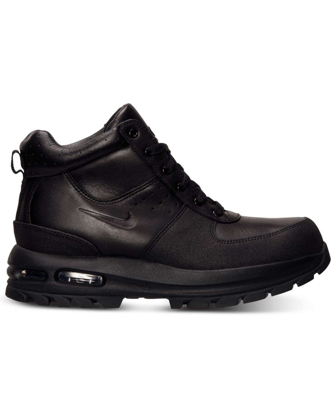 nike air max goaterra leather boots in black for lyst