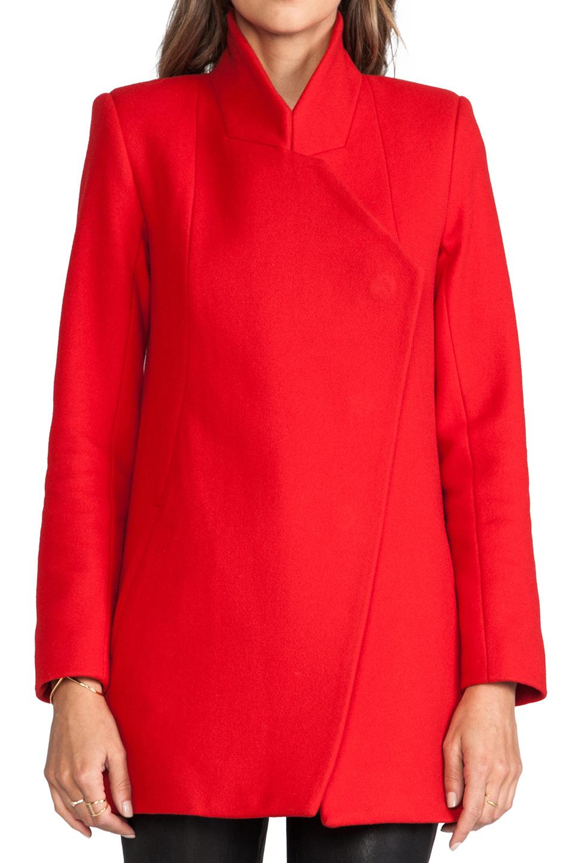 Nicholas Felted Wool Coat in Red | Lyst
