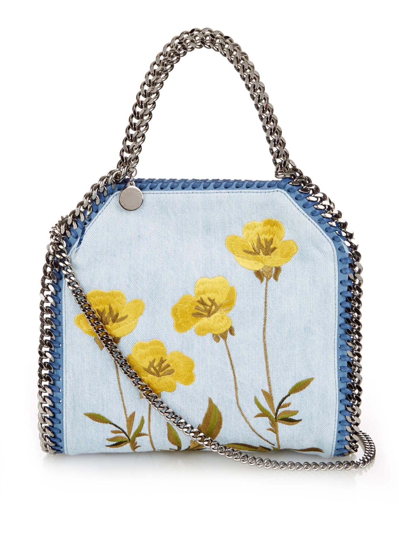 3a8955511d Stella McCartney Falabella Mini Bella Denim Cross-body Bag in Blue ...