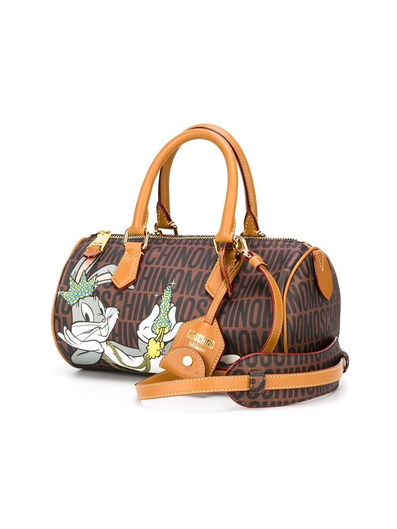 fed5b14b7ea Moschino Bugs Bunny Tote in Brown - Lyst