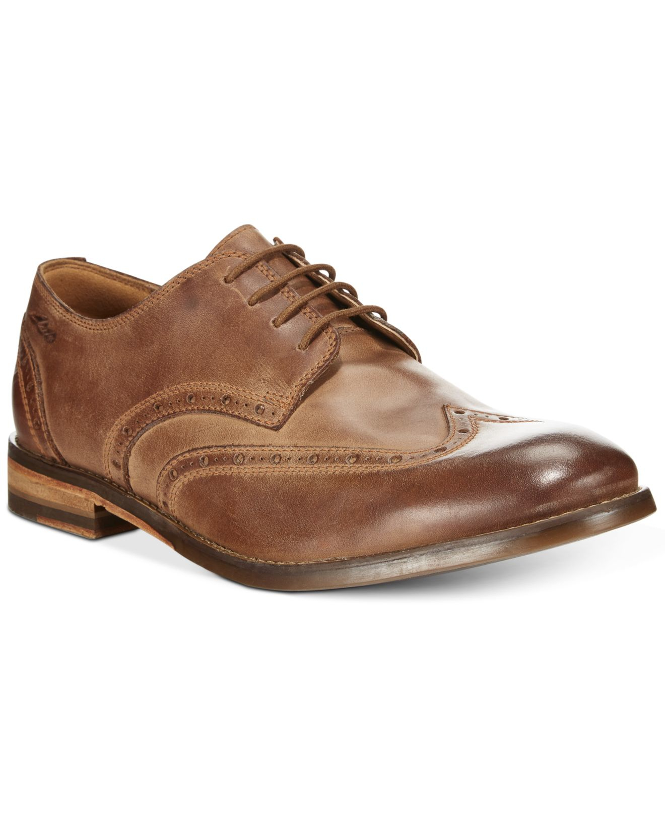 811a9542c176 Lyst - Clarks Men s 1825 Tor Collection Exton Brogue Wing Tip Lace ...