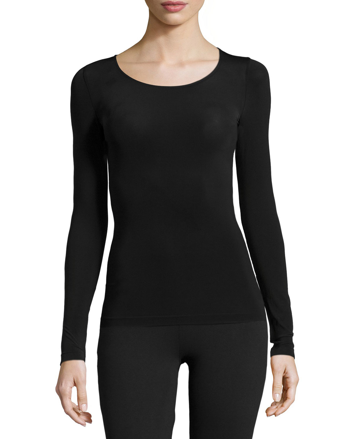 wolford buenos aires long sleeve pullover top in black lyst. Black Bedroom Furniture Sets. Home Design Ideas