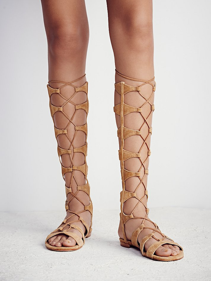 05f6983e0240 Lyst - Free People Desert Horizon Tall Gladiator Sandals in Natural