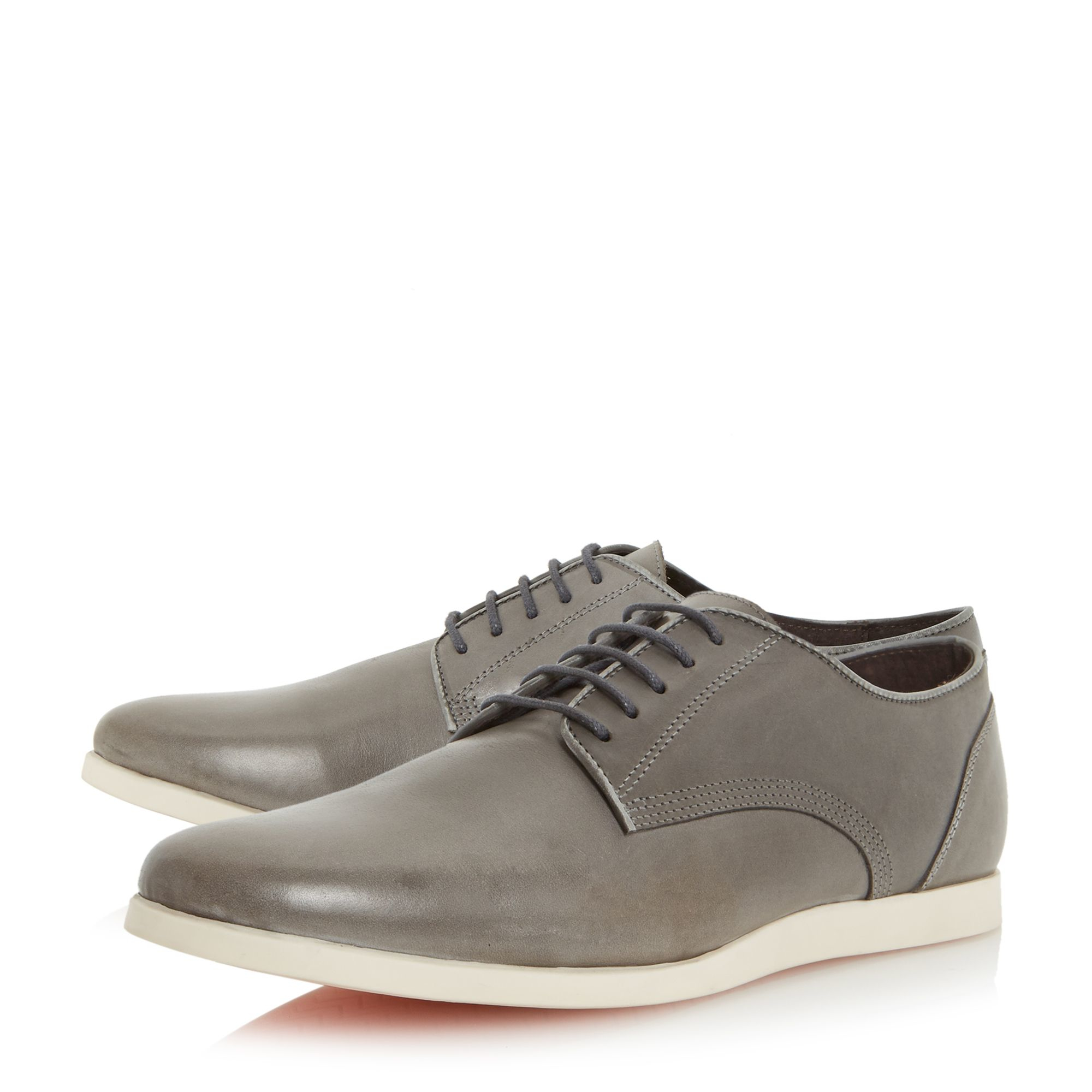 bertie bonniee leather lace up shoe in gray for lyst