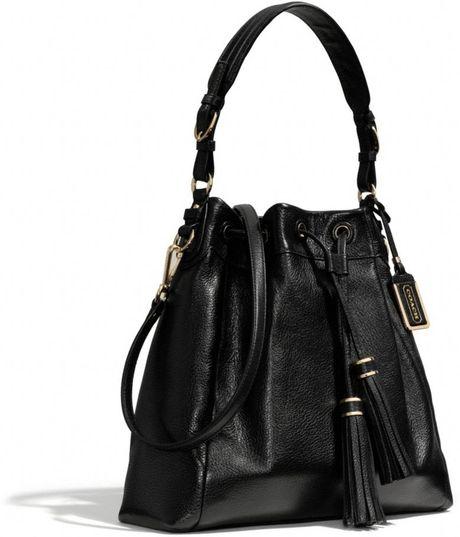 Coach Madison Leather Shoulder Bag Black 70