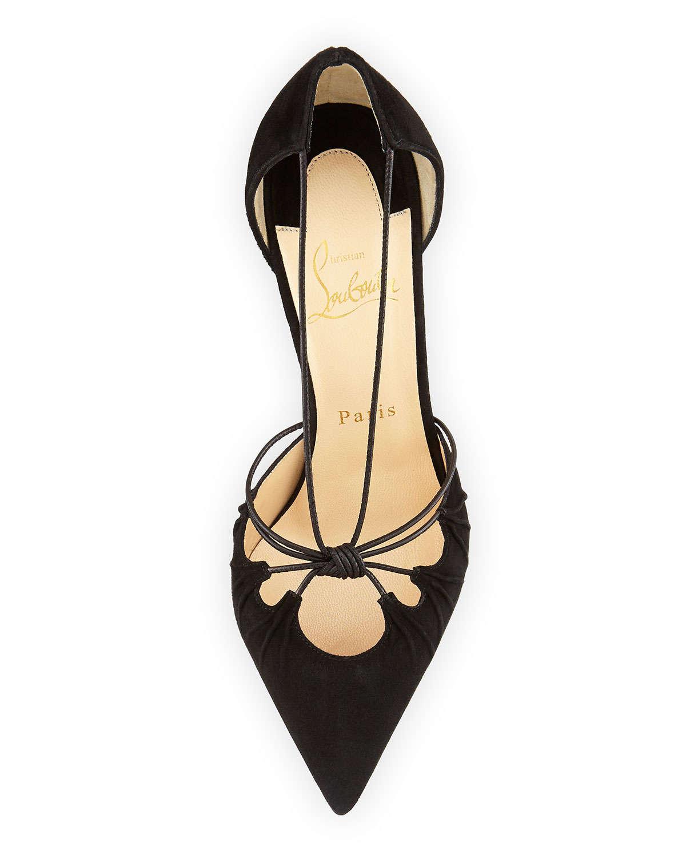 christian louboutin shoes replica - christian louboutin patent leather slingback pumps Black knot ...