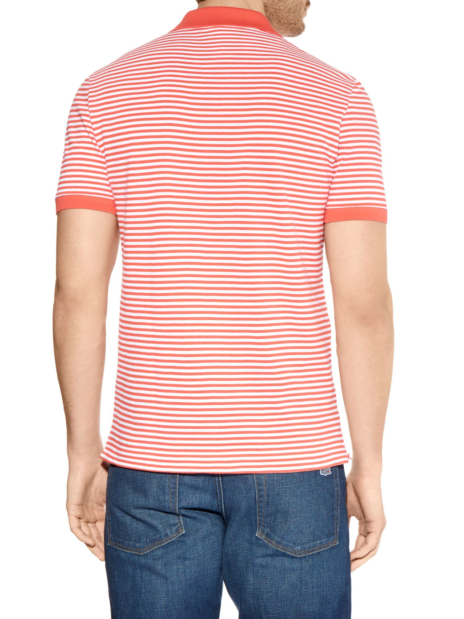 Striped Tees for Men. Stock your closet with basics you'll wear forever, like men's striped tees that come in every color under the sun. A man can never have enough striped t-shirts: between work, hitting the beach and going to the mall, a guy can go through a lot of these.