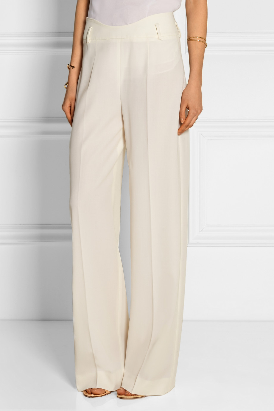 White Wool Pants Si Pant