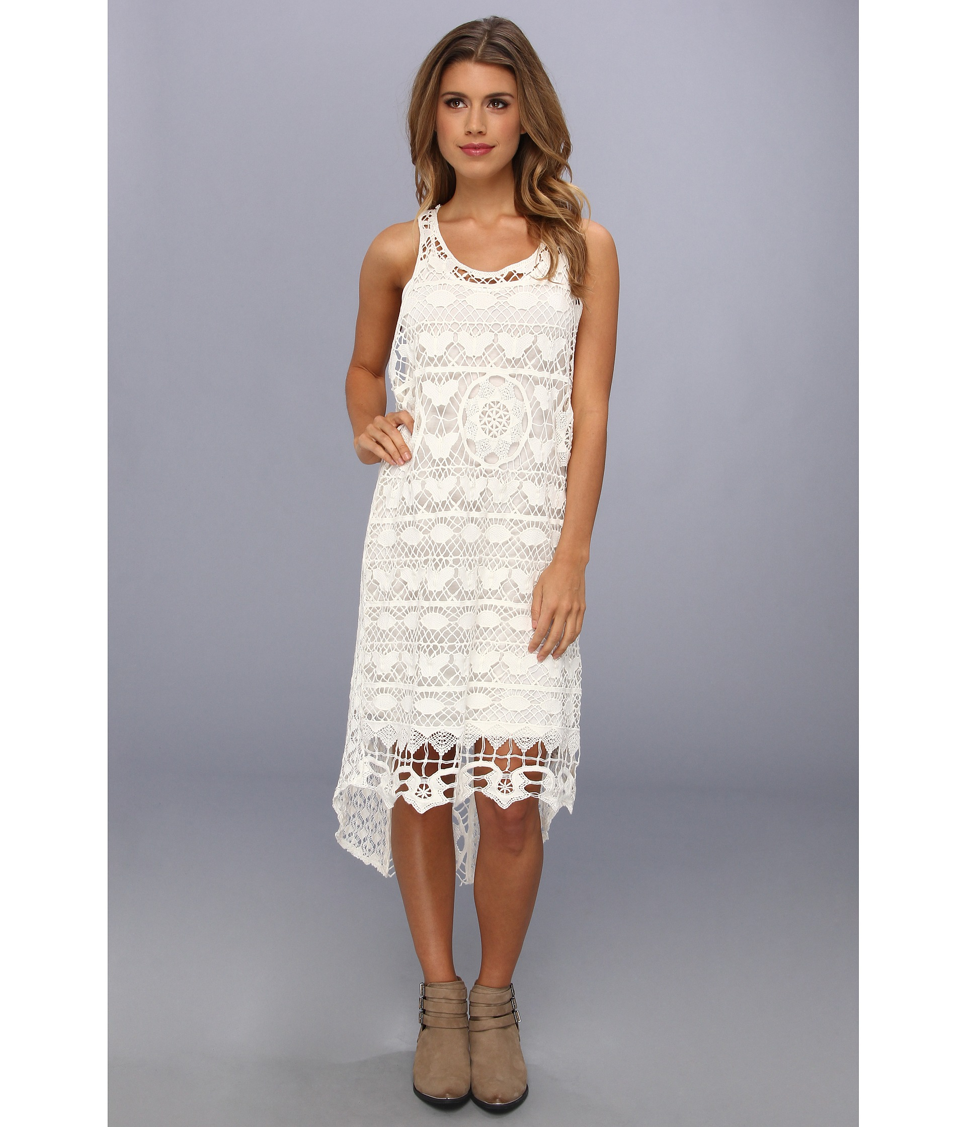 f5fbbaec23b Free People Mystical Chemical Lace Dress in White - Lyst