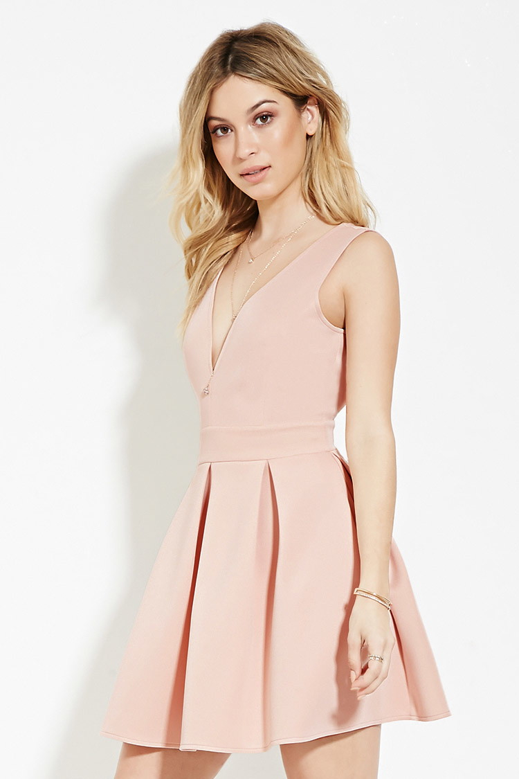 428b70e0c92d Blush Fit And Flare Dress - Dress Foto and Picture