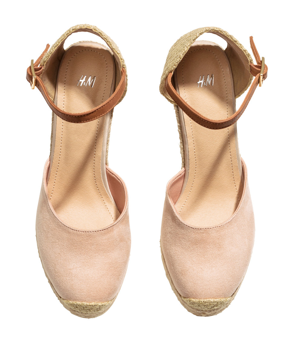 c47e3a9ef7 H&M Wedge Heel Espadrilles in Natural - Lyst