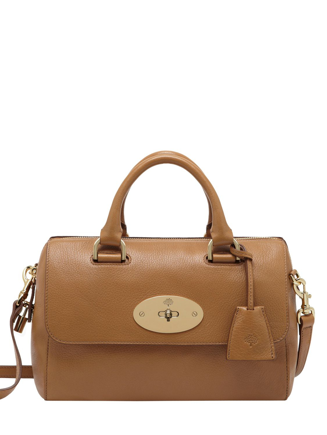 51d84e992292 Lyst - Mulberry Small Del Rey Glossy Leather Bag in Brown
