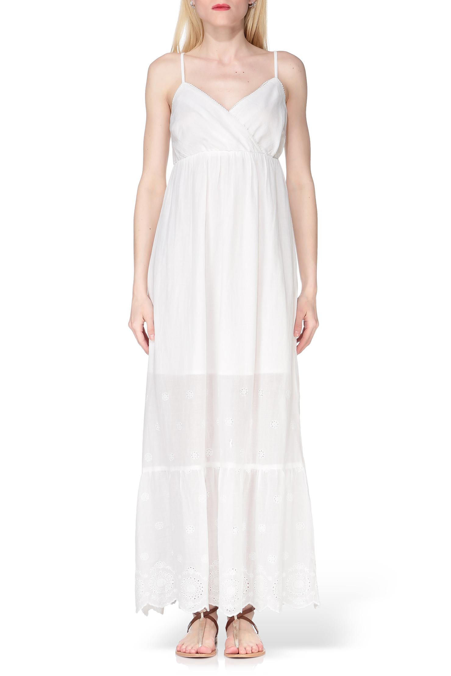 vero moda maxi dress in white lyst. Black Bedroom Furniture Sets. Home Design Ideas