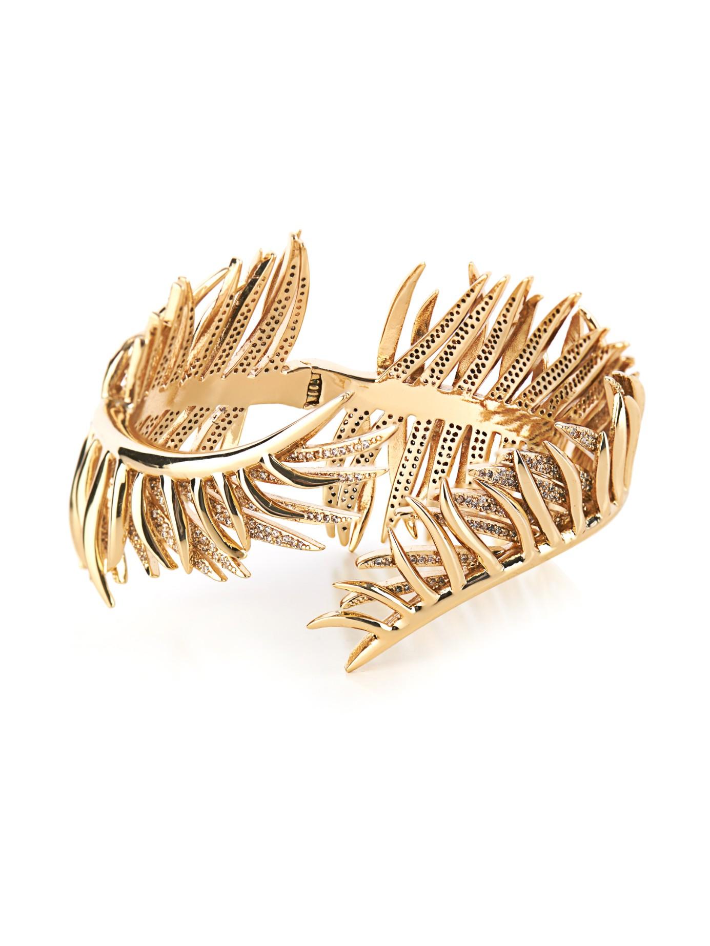 Eddie Borgo Pavé Frond Cuff Bracelet dHejdJ0tFv