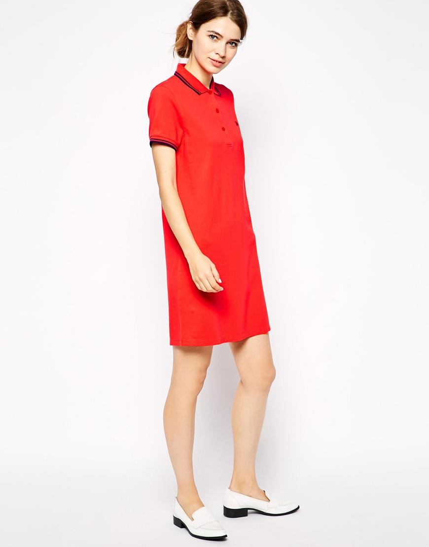 Red Polo Shirt Dress