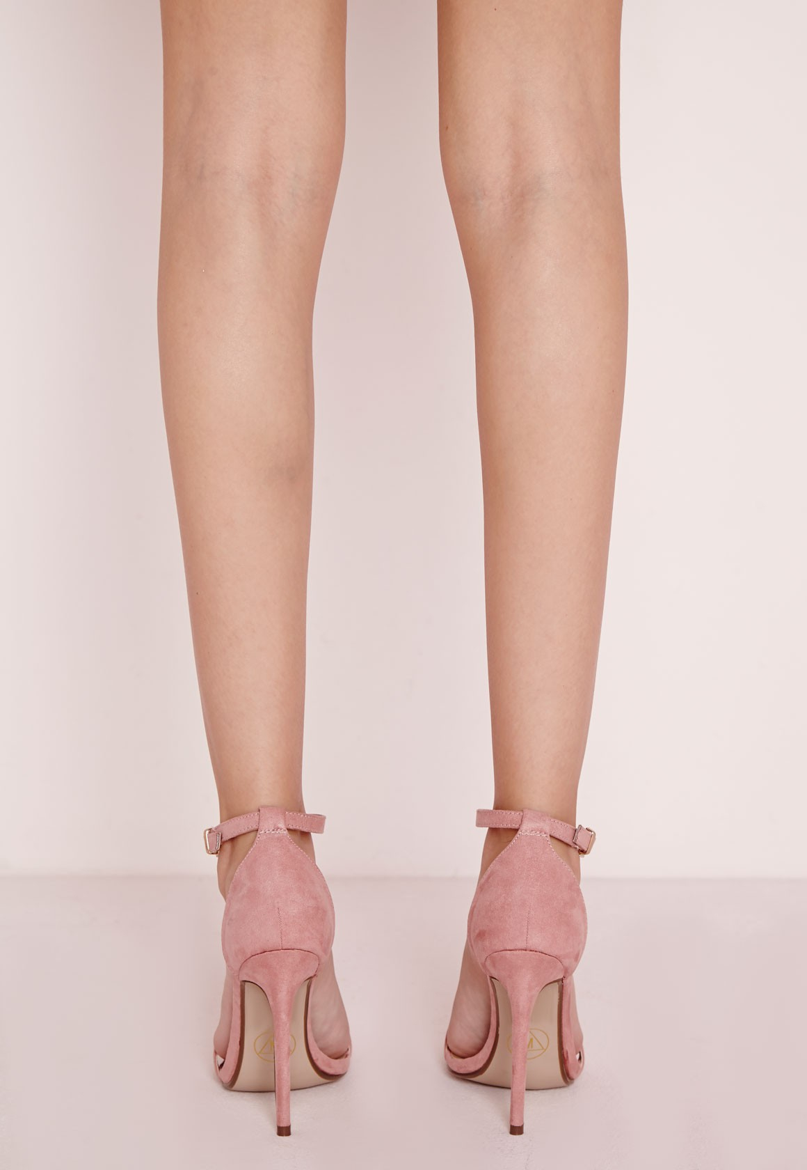 58eee77efff Lyst - Missguided Barely There Strappy Heeled Sandals Rose in Pink