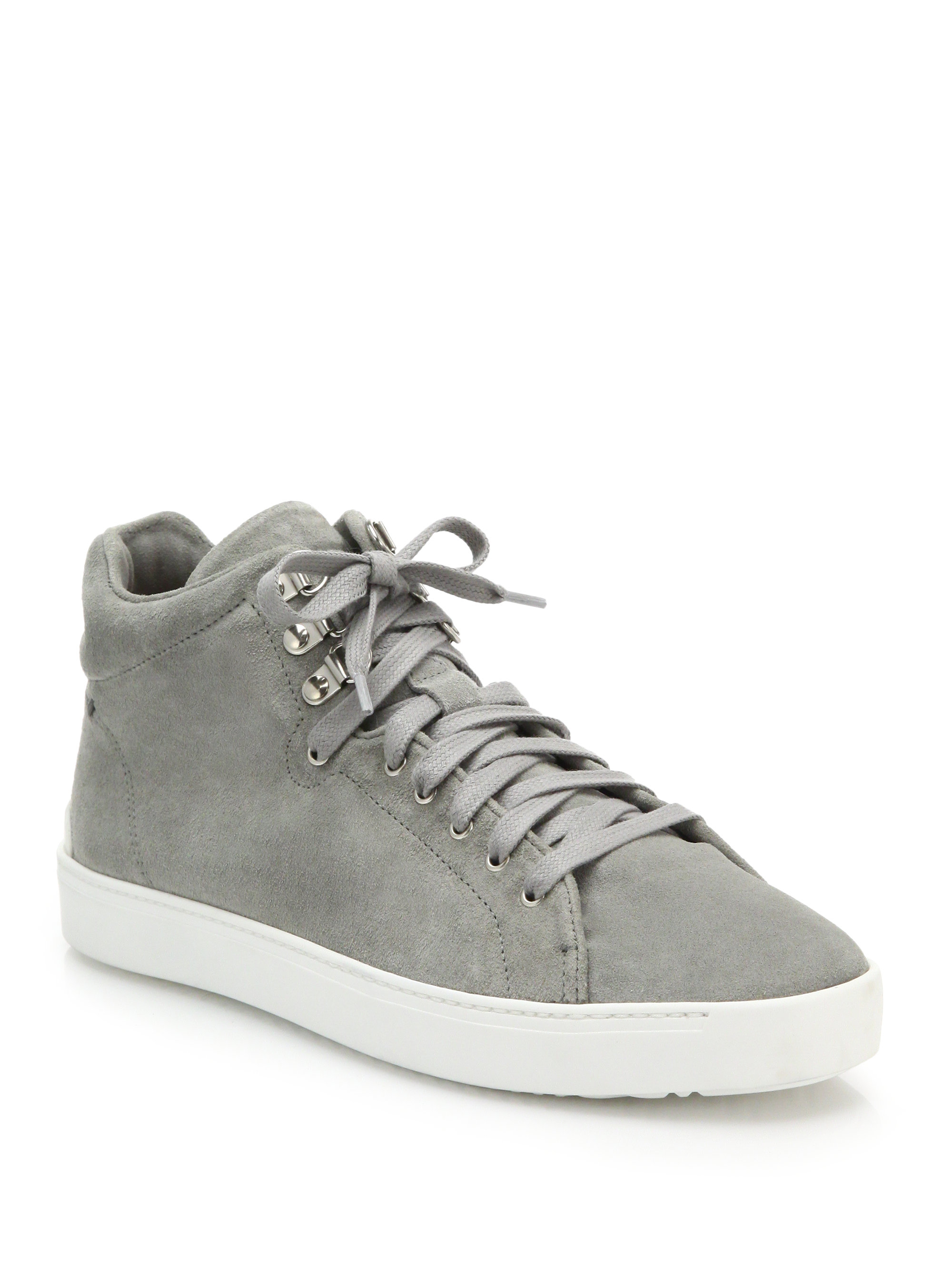 4cb8a32089ef31 Lyst - Rag   Bone Kent Suede High-top Sneakers in Gray