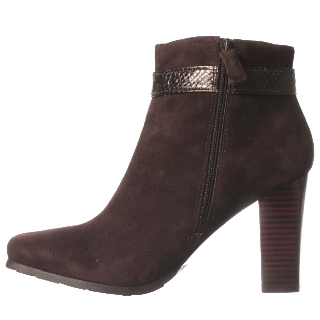 via spiga guri ankle boot in brown lyst
