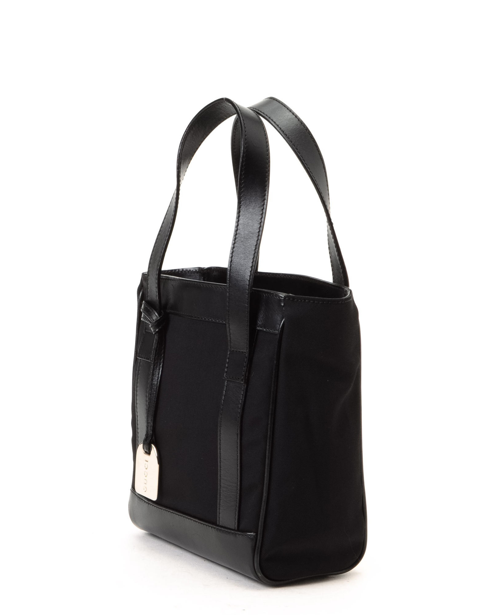 Gucci Black Nylon Tote Bag - Vintage in Black | Lyst