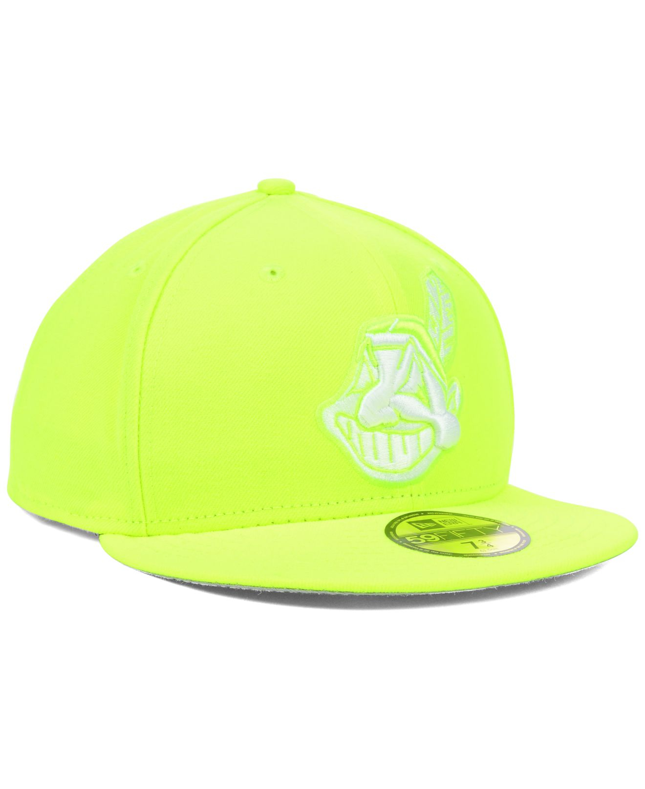 best website 071b4 43423 ... wholesale lyst ktz cleveland indians mlb c dub 59fifty cap in yellow  for men 08b26 2af0b