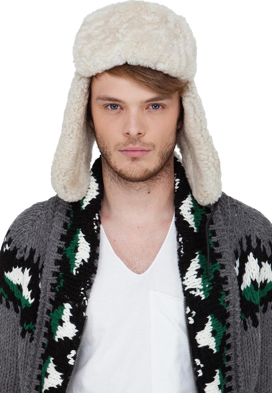 Canada Goose kensington parka sale store - Canada goose Merino Wool Shearling Pilot Hat in Gray for Men (grey ...