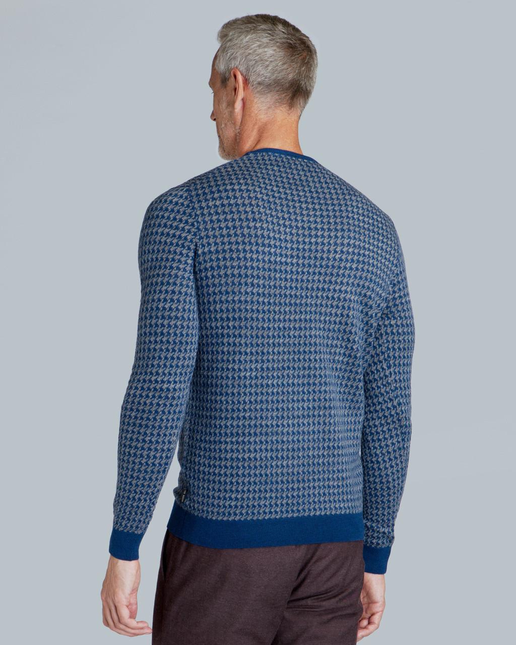 8b2322bcfae80 Lyst - Ted Baker Dogtooth Pattern Jumper in Blue for Men