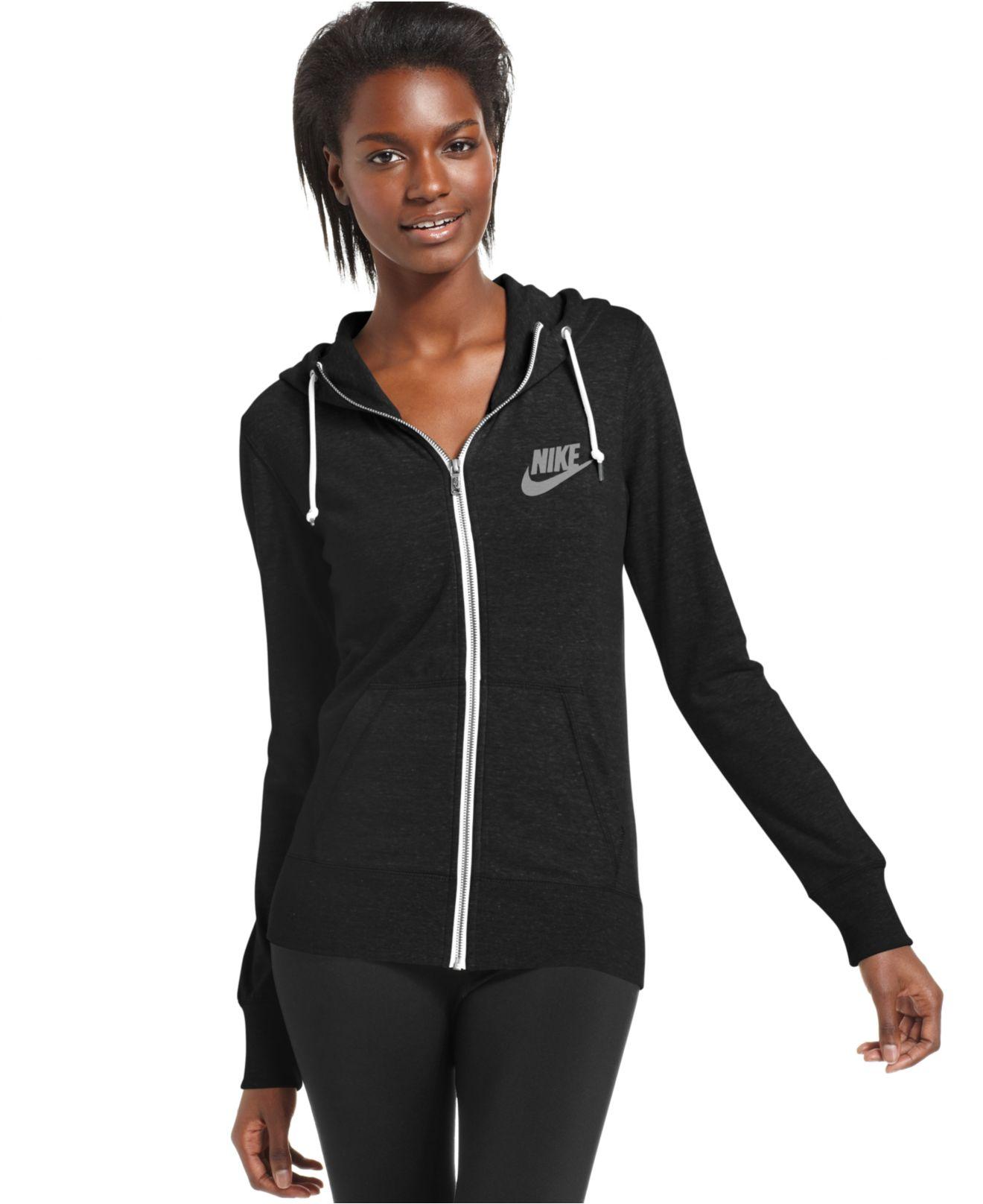 Lyst Nike Long Sleeve Gym Vintage Hoodie In Black
