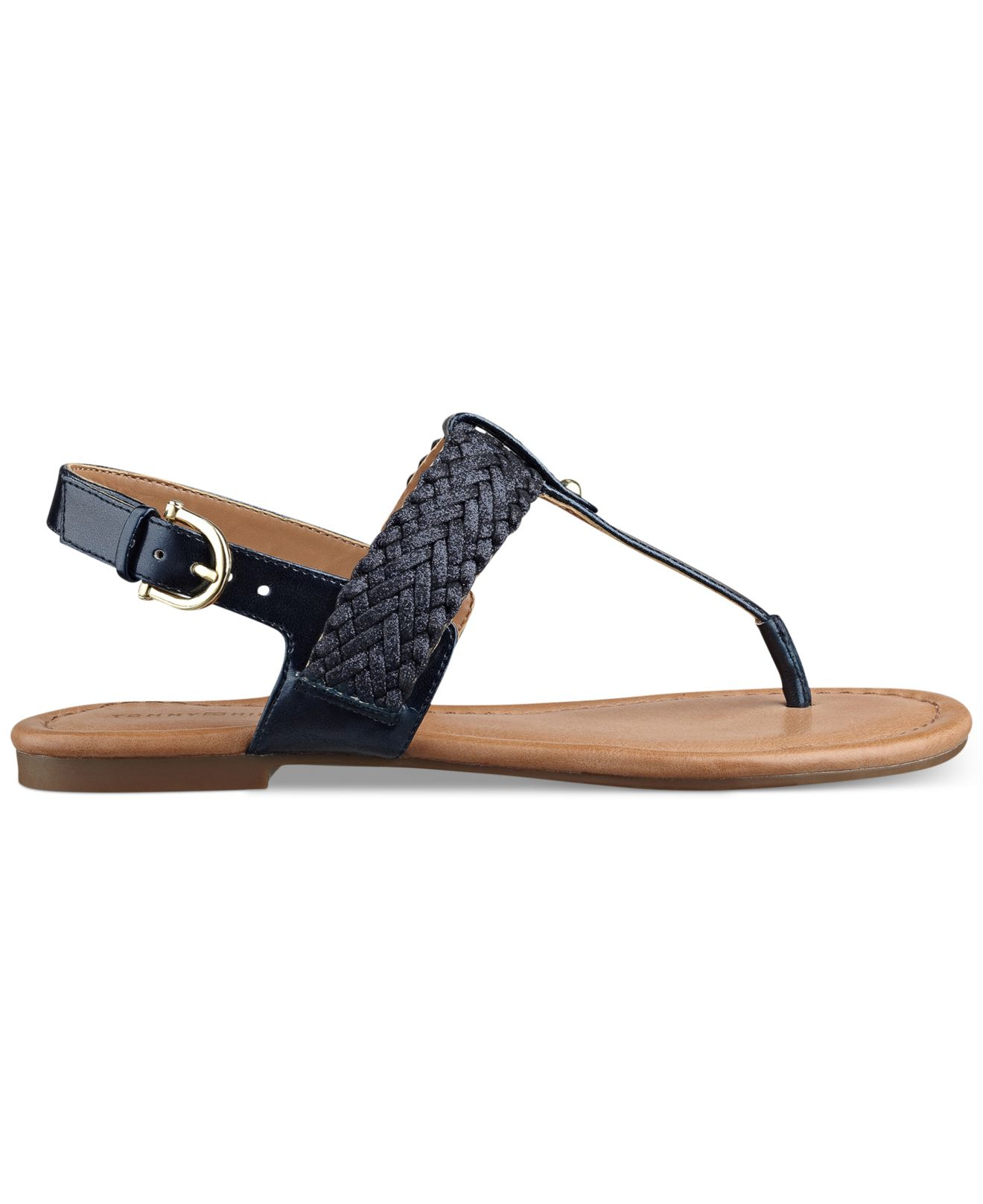 c62ade1d254 Lyst tommy hilfiger womens saycn flat thong sandals in blue jpg 1320x1616  Navy blue womens sandals