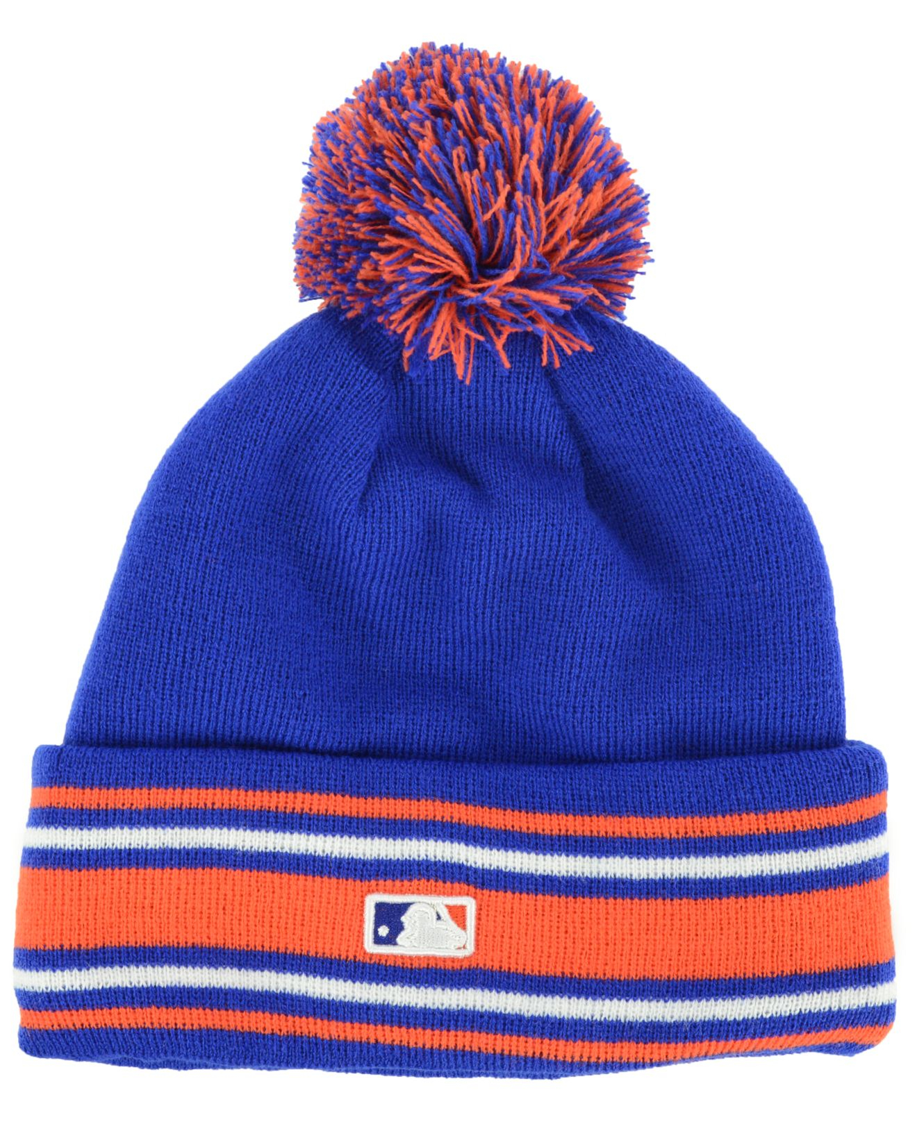 ... hat b747b coupon code for lyst ktz new york mets mlb ac knit in blue  for men e4927 ... 6697c14d23f