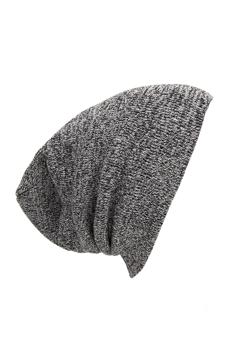 799599ab9d303 Forever 21 Heathered Ribbed Knit Beanie in Gray - Lyst