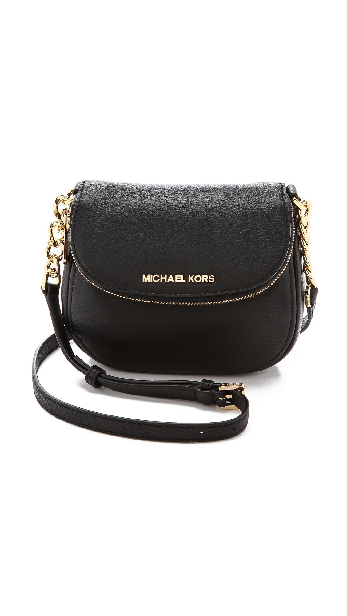 f384dc45d200 Lyst - MICHAEL Michael Kors Bedford Flap Cross Body Bag Luggage in Black