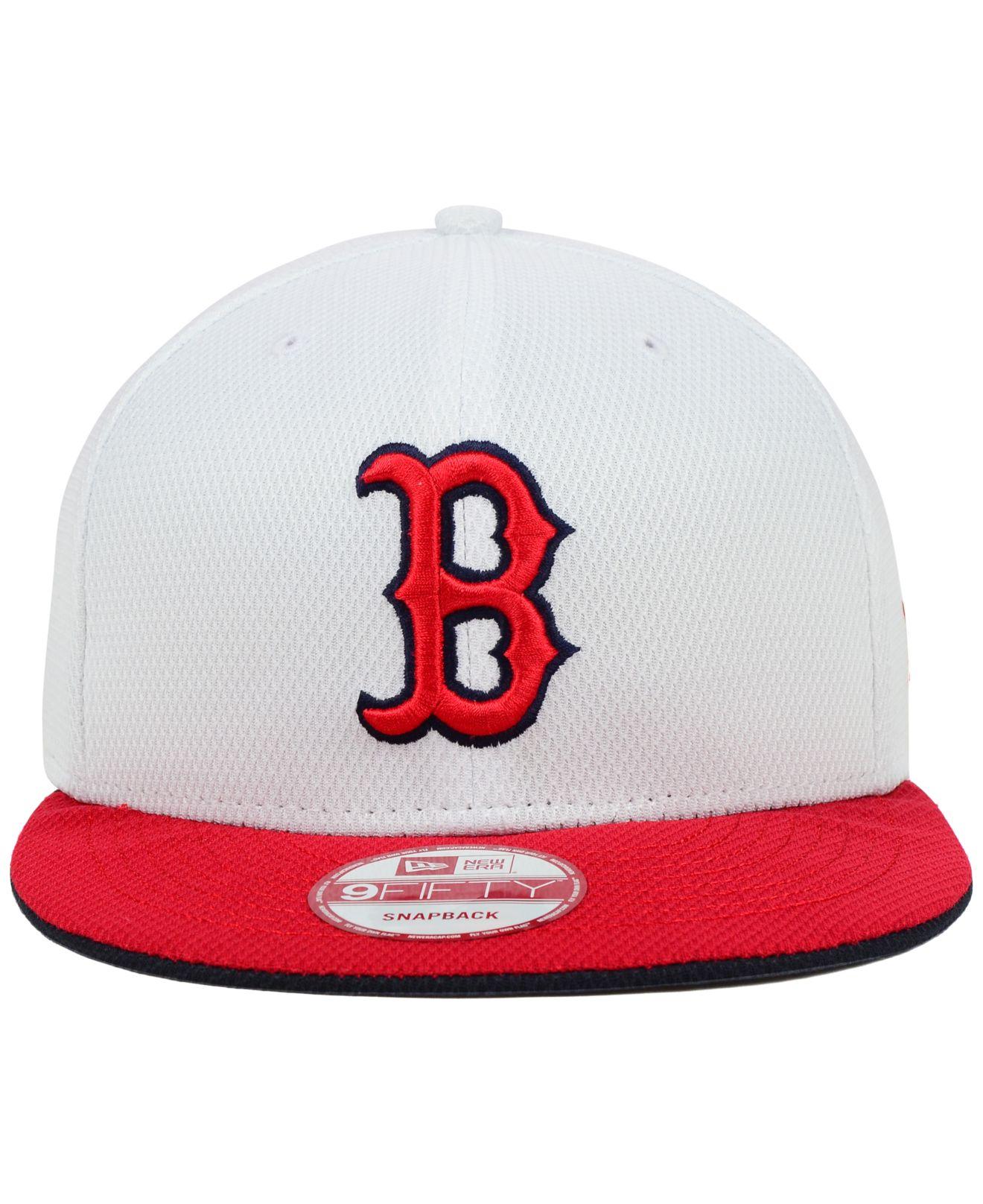 0ff5e727 ... canada lyst ktz boston red sox white diamond era 9fifty snapback cap in  520e0 b7218