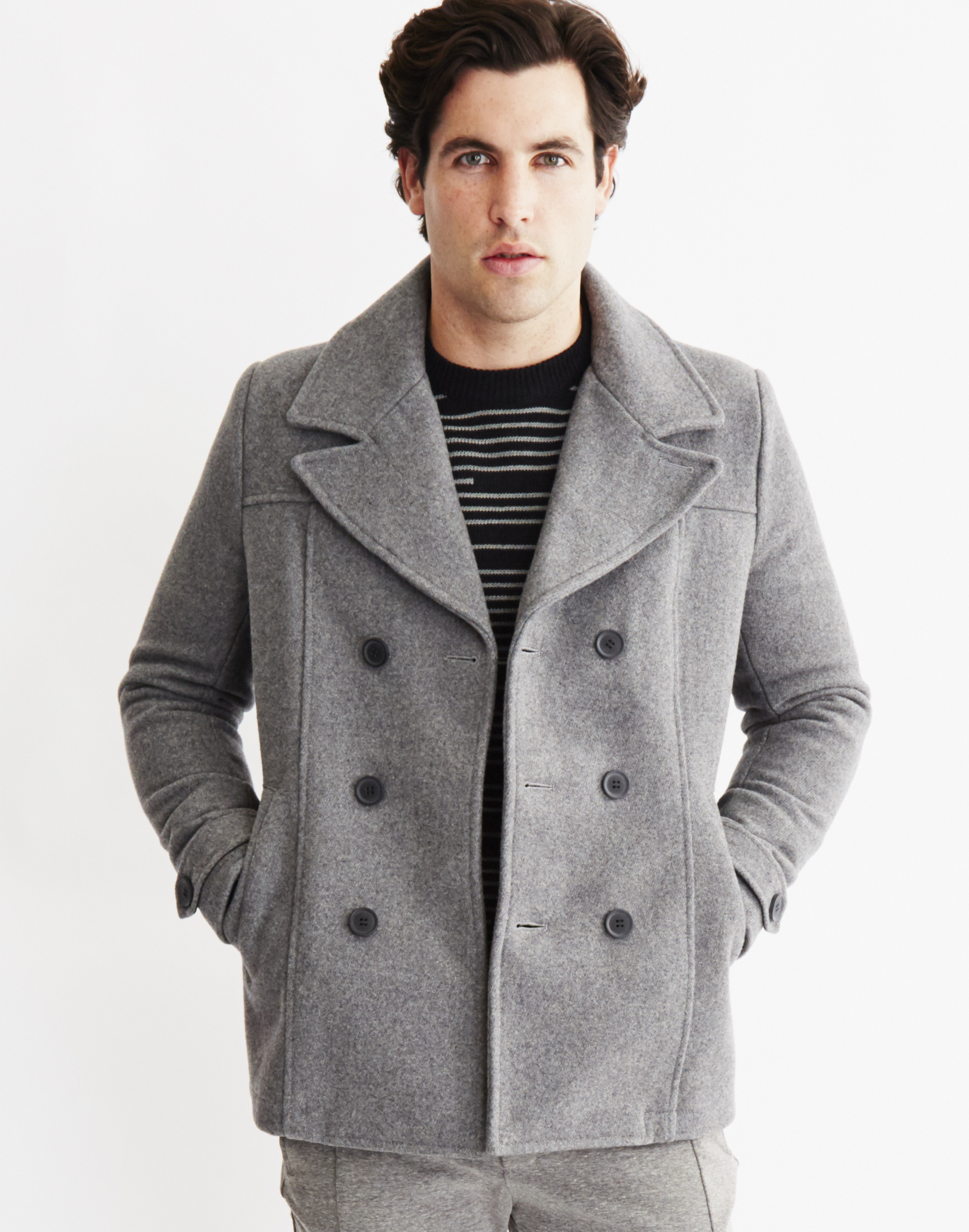 Lyst Only Amp Sons Mens Peacoat Grey In Gray For Men