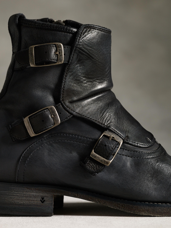 Lyst John Varvatos Fleetwood Triple Monk Boot In Black