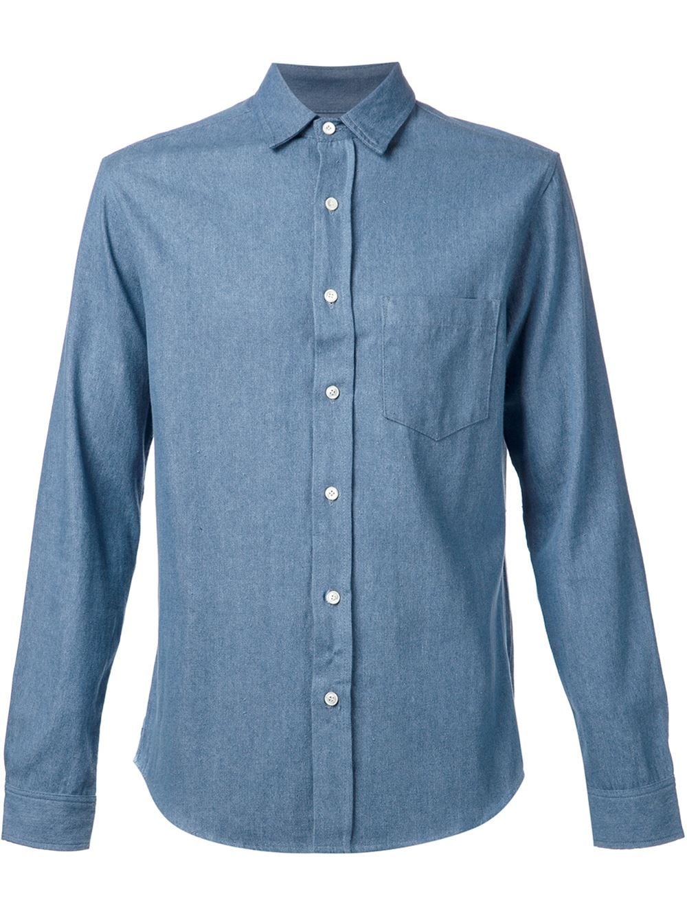 fadeless classic chambray shirt in blue for men lyst