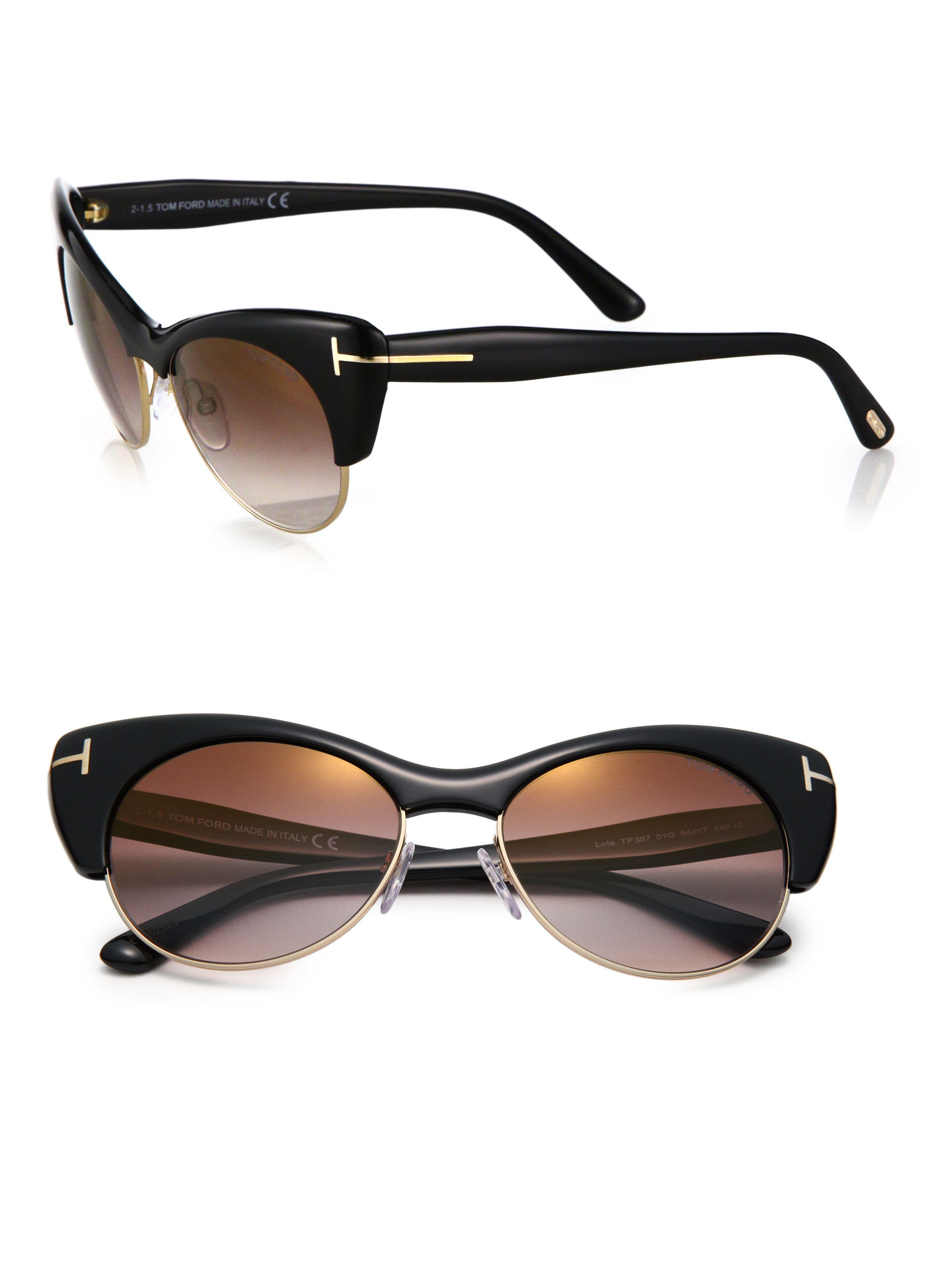 499eba5a01 Half Kitten Cat Eye Sunglasses