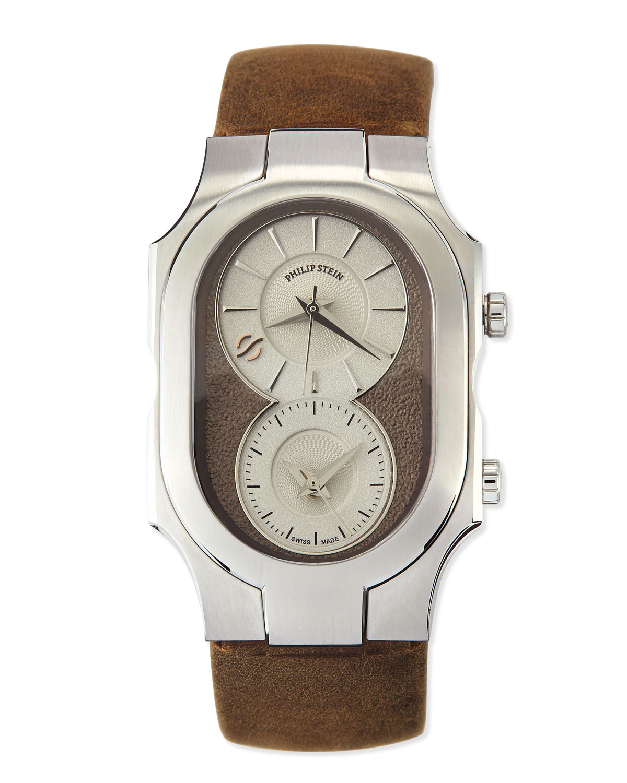 Philip stein signature analog watch in brown lyst for Philip stein watches