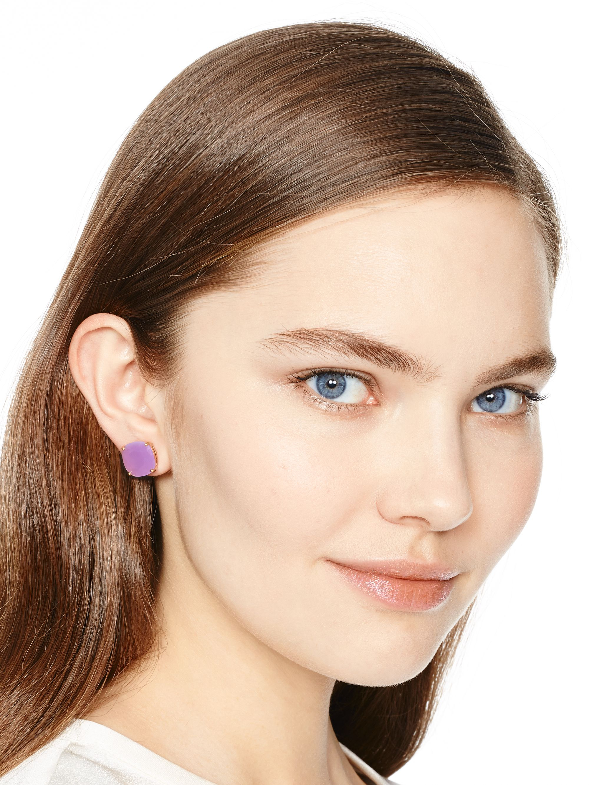 a888c63a2147b1 Kate Spade Kate Spade Earrings Small Square Studs in Purple - Lyst
