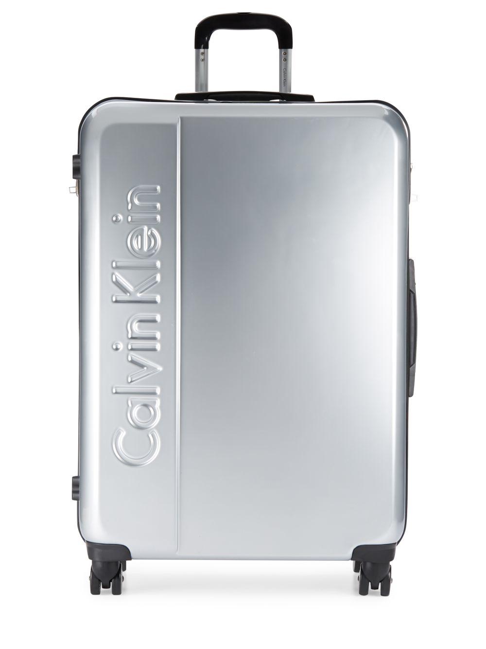 Lyst Calvin Klein 28 Inch Logo Embossed Suitcase In