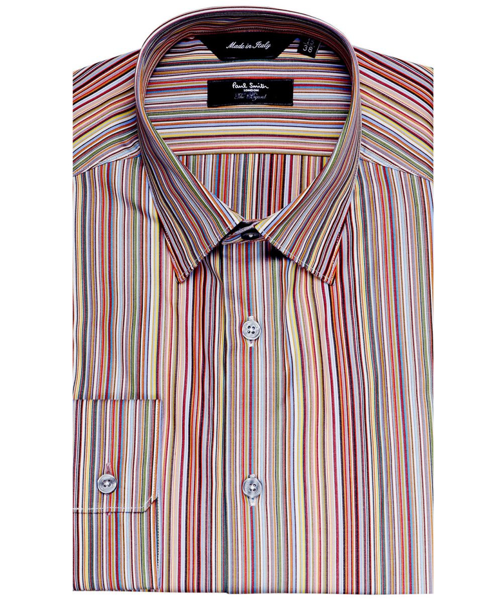 Lyst paul smith tailored fit signature striped shirt for men for Tailored fit shirts meaning