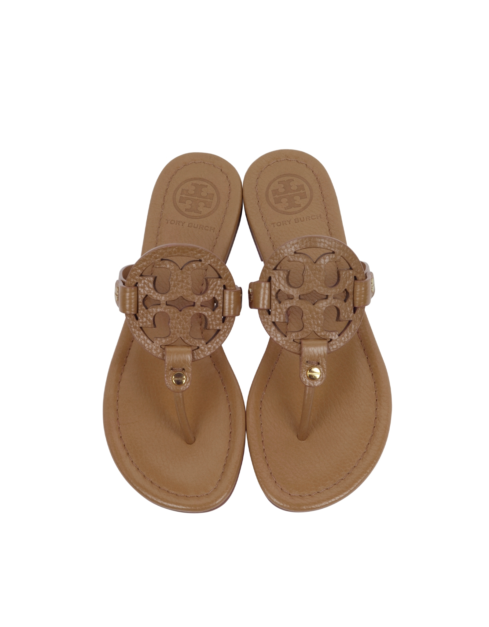 0d39c5a04 Tory Burch Miller Royal Tan Leather Sandal in Brown - Lyst