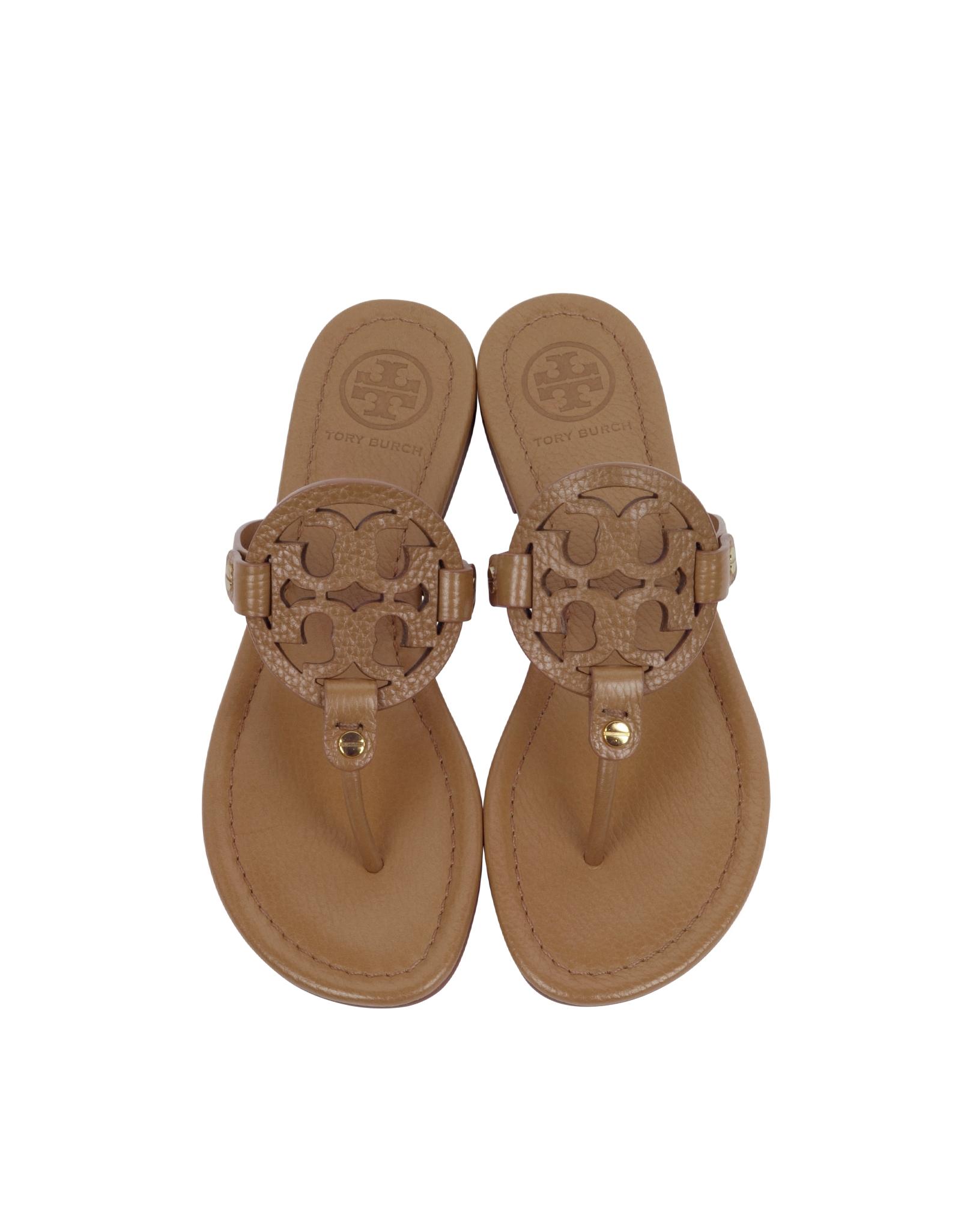 f1adb6190 Tory Burch Miller Royal Tan Leather Sandal in Brown - Lyst