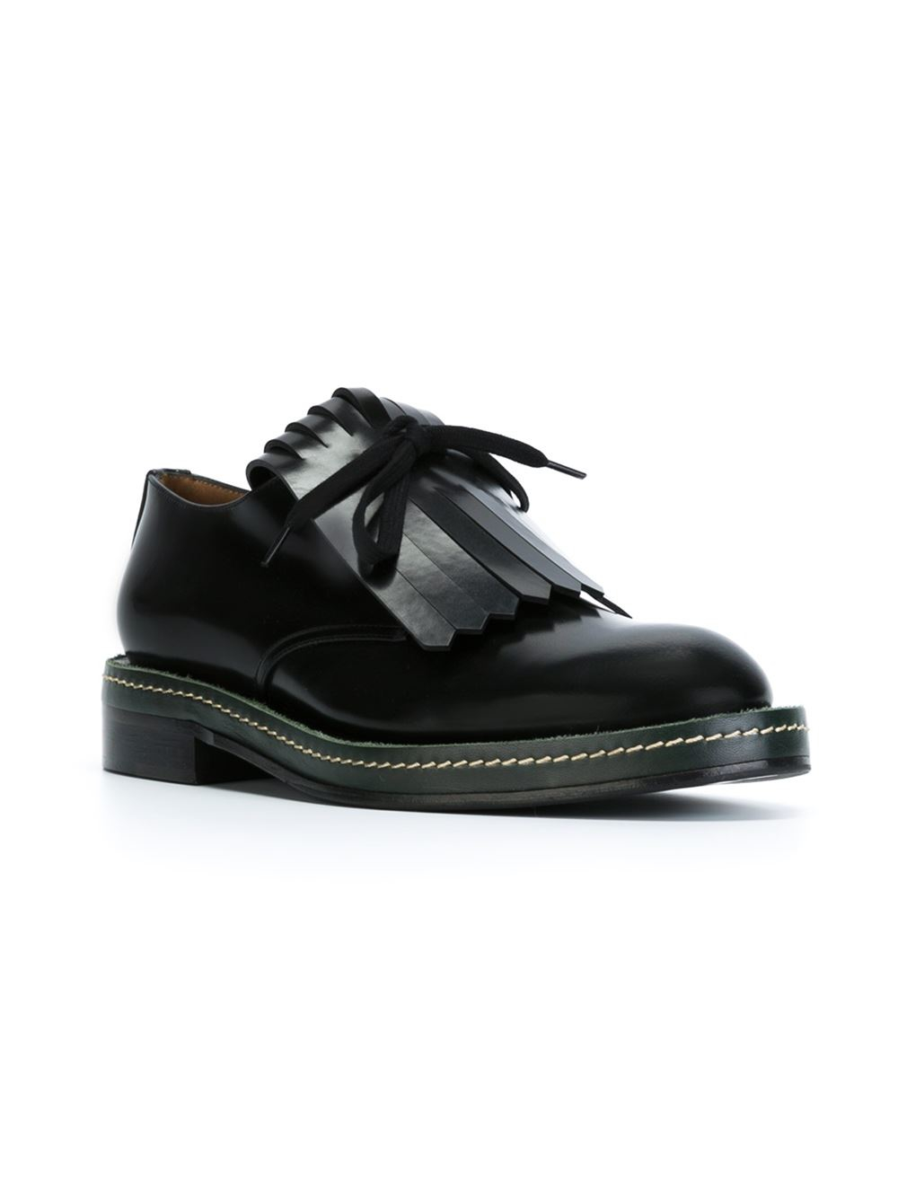 lace-up sneakers - Black Marni