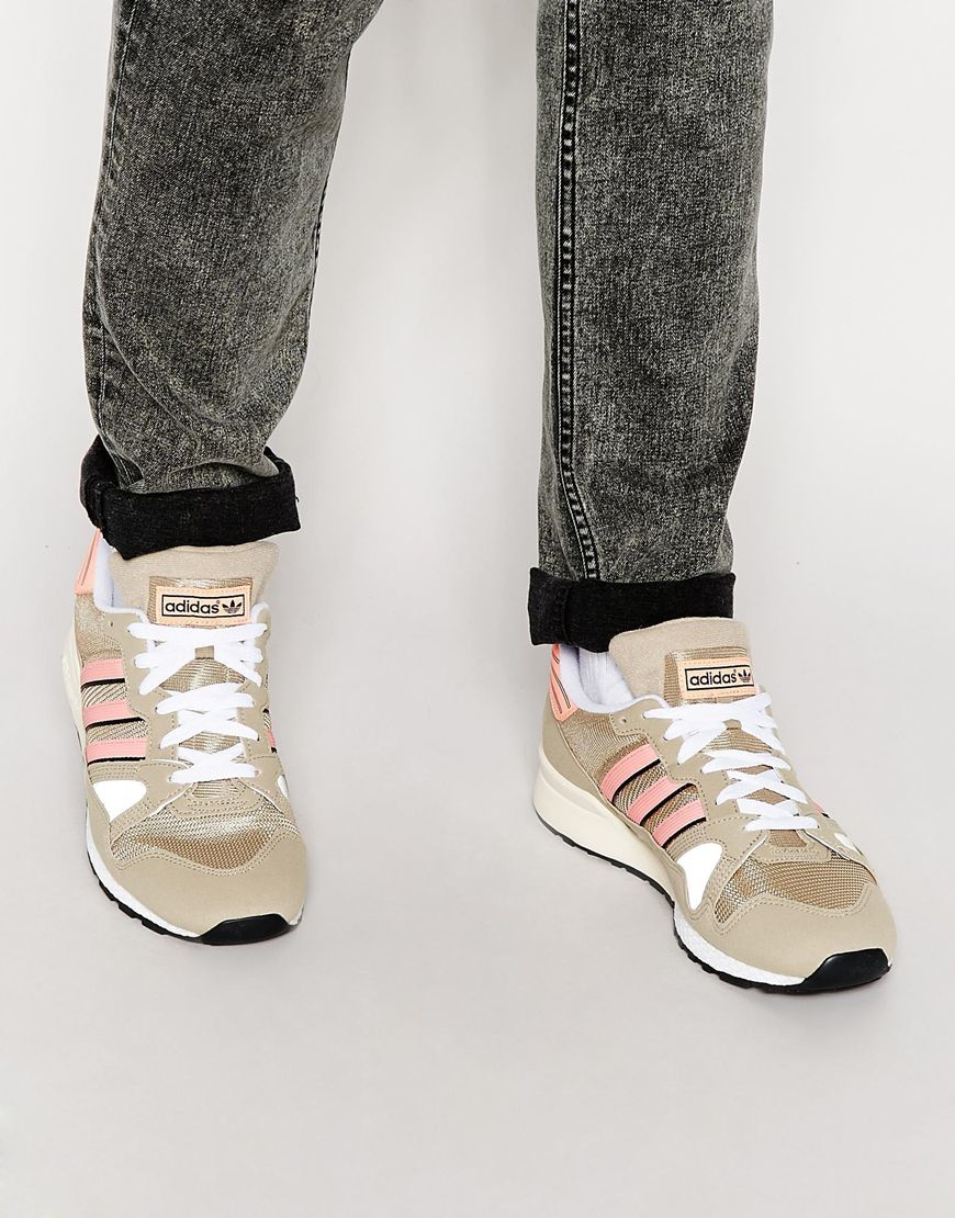 a0c09791ce95 ... free shipping lyst adidas originals zx 710 sneakers in brown for men  51580 94d7c
