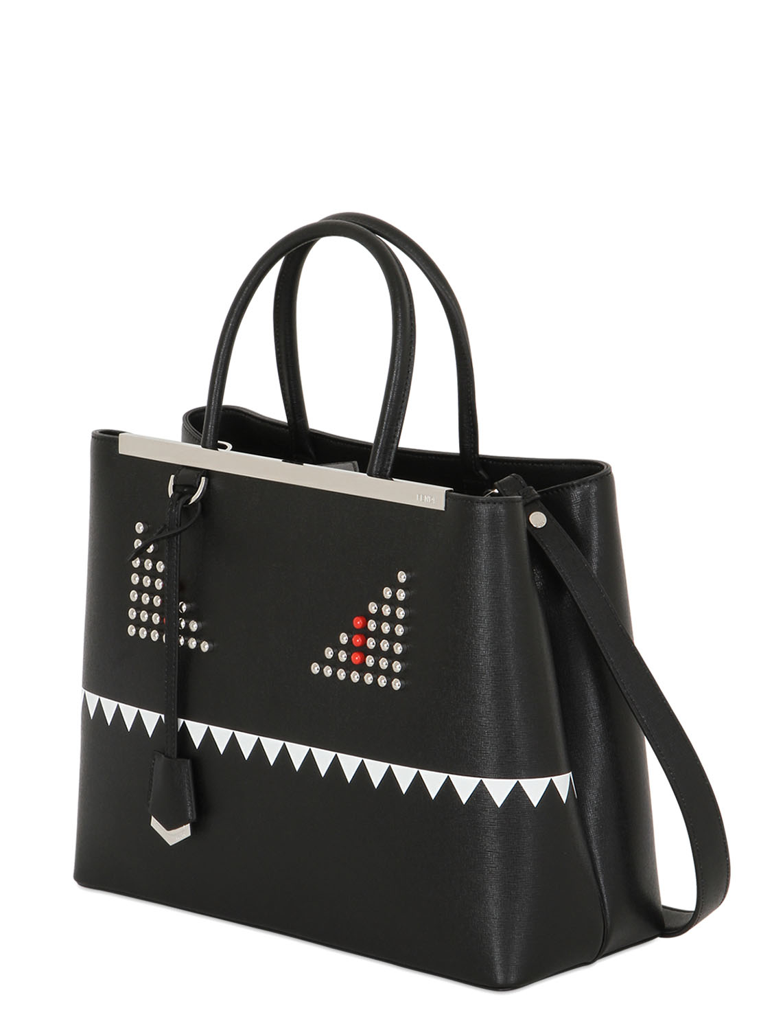 Fendi Black 2jours Monster Medium Tote In Black Lyst