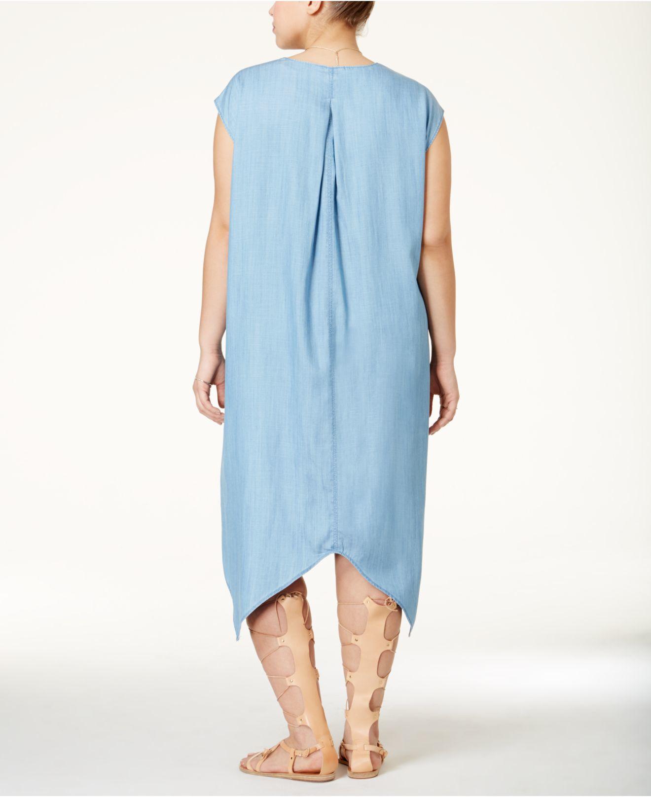 c462ba23d904c Lyst - RACHEL Rachel Roy Curvy Plus Size Sydney High-low Shift Dress ...