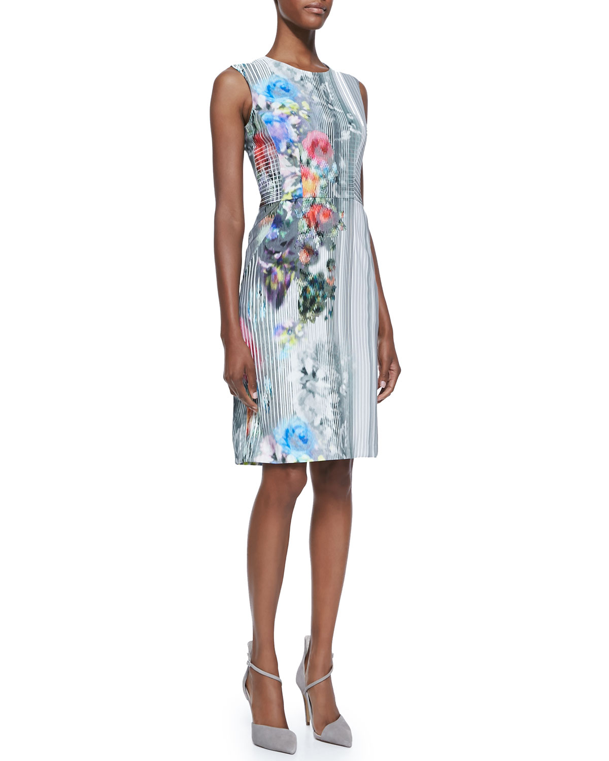 Book Cover Watercolor Dress : Nanette lepore graphic floral print book signing dress in